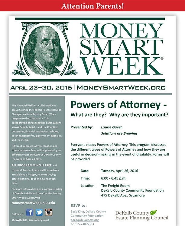 Powers of Attorney - Money Smart Week