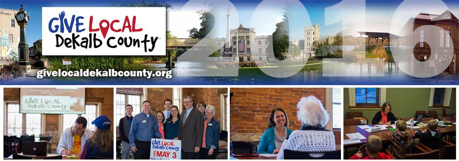 Give Local DeKalb County Header