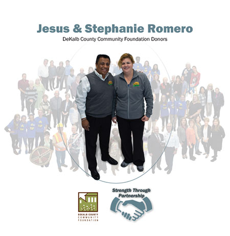 Local philanthropists Jesus and Stephanie Romero