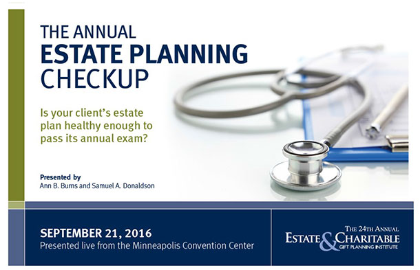 Estate Planning Council event Sept 2016