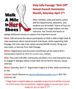 Safe Passage - Walk A Mile In Her Shoes Fundraiser_YEP Volunteers