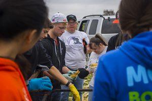 Gracie Center Popcorn Harvest, YEP Volunteers